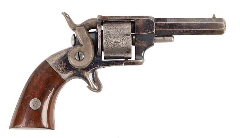 Allen & Wheelock Side Hammer Revolver, 3rd Type, right facing