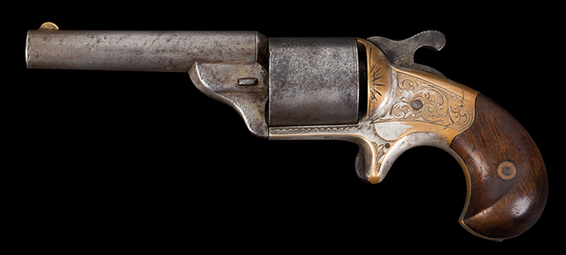 .32 Caliber Moore Teat Fire Front Loading Revolver Made circa 1864-1870, left facing