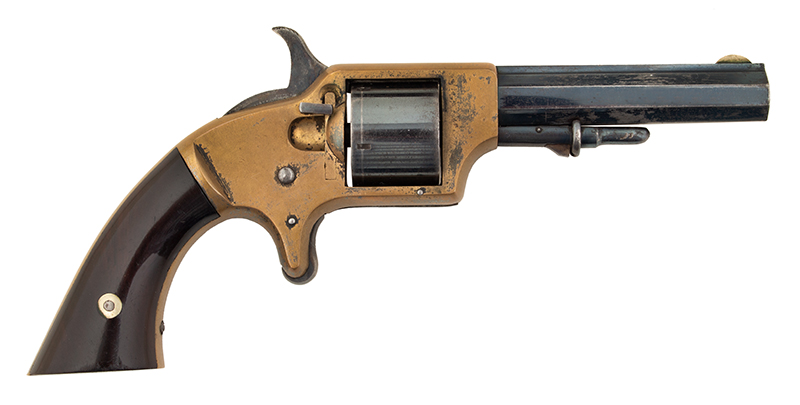 Springfield Arms Pocket Revolver & Case, right facing