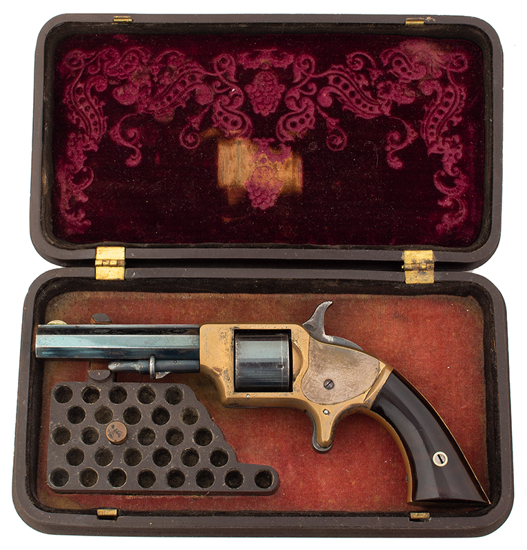Springfield Arms Pocket Revolver & Case, in case view 1