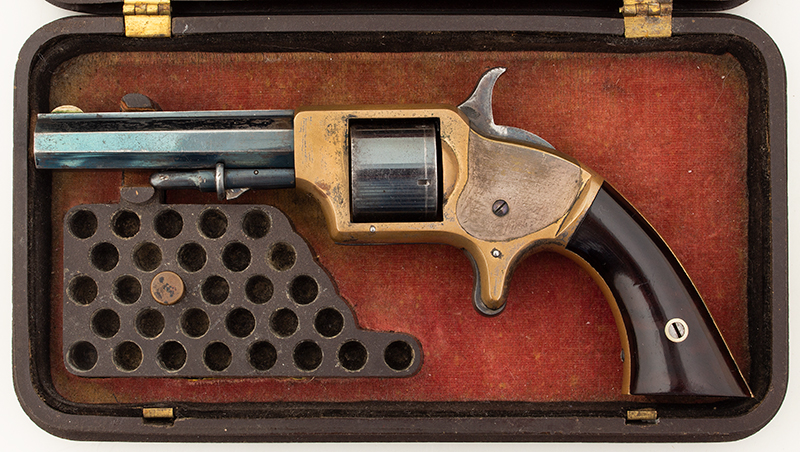 Springfield Arms Pocket Revolver & Case, in case view 2