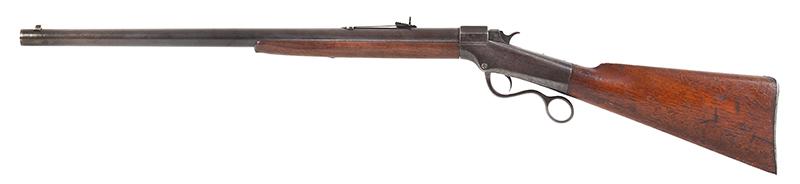 Marlin Made Ballard Pattern Model 1 ¾ Far West Hunter's Model Rifle J.M. MARLIN / NEW HAVEN Conn. / U.S.S / BALLARD'S PATENT NOV. 6, 1861, left facing