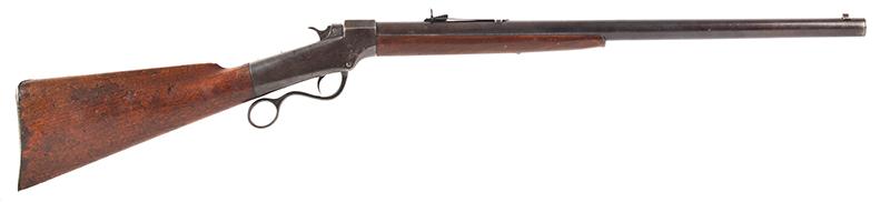 Marlin Made Ballard Pattern Model 1 ¾ Far West Hunter's Model Rifle J.M. MARLIN / NEW HAVEN Conn. / U.S.S / BALLARD'S PATENT NOV. 6, 1861, right facing