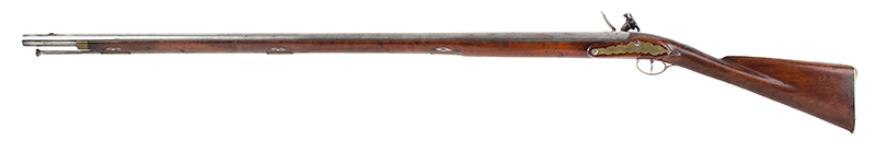 Massachusetts Militia Musket, Private Issue, Worcester County Likely made by Asa Waters, extremely rare and beautiful inlaid eagle silver thumb piece Asa Waters II (1769-1841), Millbury, Massachusetts, (.69 caliber, 40-inch barrel) Circa 1817-1823, left facing