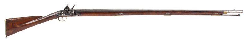 Massachusetts Militia Musket, Private Issue, Worcester County Likely made by Asa Waters, extremely rare and beautiful inlaid eagle silver thumb piece Asa Waters II (1769-1841), Millbury, Massachusetts, (.69 caliber, 40-inch barrel) Circa 1817-1823, right facing