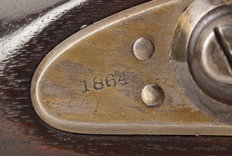 U.S. Model 1866 Springfield Allin Conversion Trapdoor Rifle, lock plate detail 2