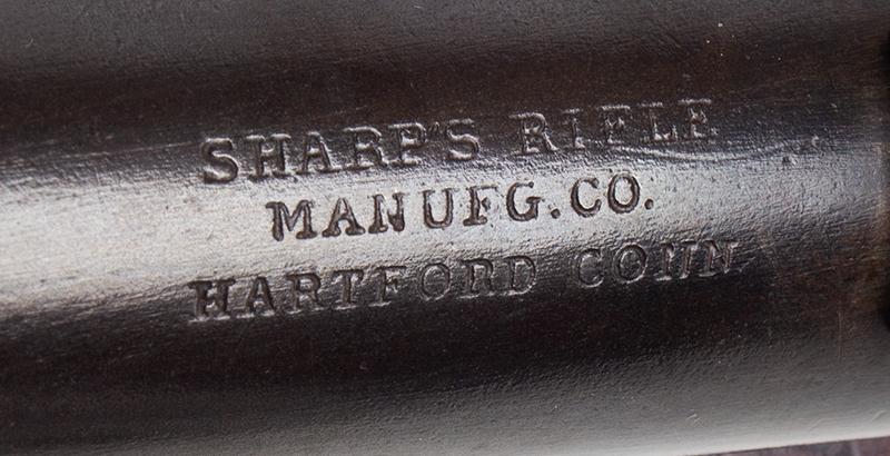 """Civil War Era Rifle; Sharps, New Model 1863, 3 Band Barrel .52 caliber percussion breechloader, 30""""-barrel, Serial number C,31792, address"""