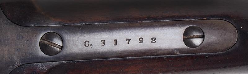 """Civil War Era Rifle; Sharps, New Model 1863, 3 Band Barrel .52 caliber percussion breechloader, 30""""-barrel, Serial number C,31792, tang"""