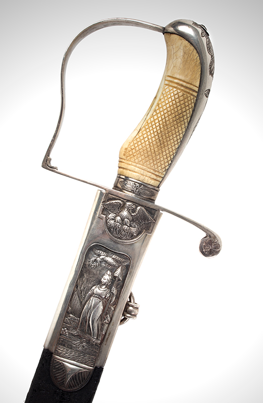 War of 1812, Important Philadelphia Silver Hilt Sabers Unknown Maker…truly dramatic!, detail view 1 sword 1