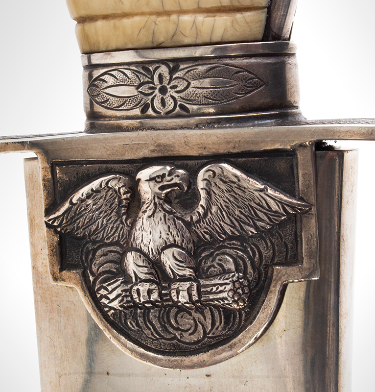 War of 1812, Important Philadelphia Silver Hilt Sabers Unknown Maker…truly dramatic!, detail view 5 sword 1