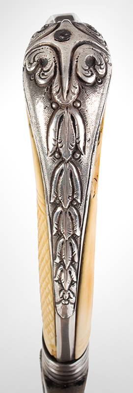 War of 1812, Important Philadelphia Silver Hilt Sabers Unknown Maker…truly dramatic!, hilt detail 4 sword 2