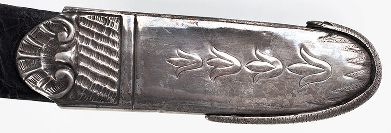 War of 1812, Important Philadelphia Silver Hilt Sabers Unknown Maker…truly dramatic!, scabbard detail 3 sword 2