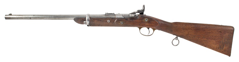 British SNIDER CARBINE Mark III Percussion Rifle, BSA & M Co BSA & M Co., Rare Snider Patent Cavalry Carbine, Serial number: C205, left facing