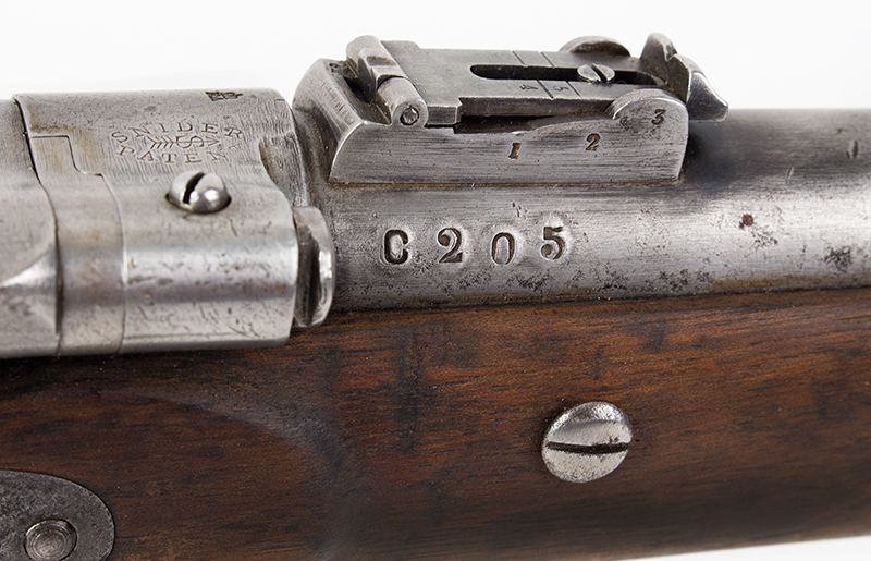 British SNIDER CARBINE Mark III Percussion Rifle, BSA & M Co BSA & M Co., Rare Snider Patent Cavalry Carbine, Serial number: C205, marks