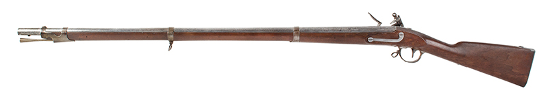 "Musket, Rare, Springfield US Model 1840, Original Bayonet, UNFIRED, Dated 1841 42"", .69-caliber barrel, dated 1841 on lock and breech tang, crisp ""NH"" on bbl flat An Outstanding Example of the Highest Integrity, NO Flint Marks on Frizzen!, left facing"