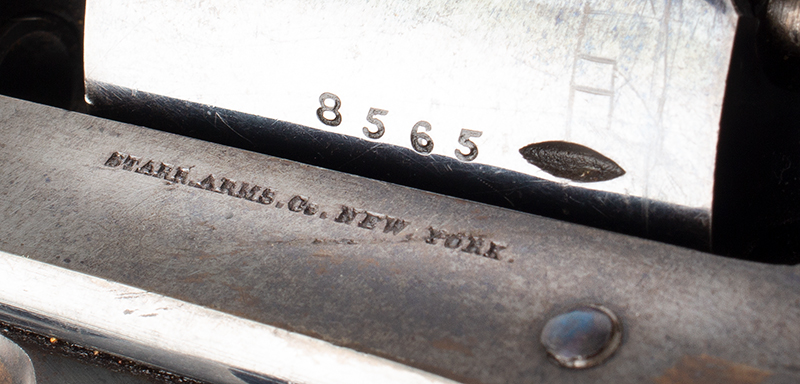 Antique Starr Double Action 1858 Army Revolver, 90% Brilliant Bright Blue, Great Cartouches STARR ARMS CO., NEW YORK – STARR'S PATENT JAN 15, 1856, serial number