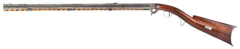 Deluxe Nicanor Kendall Under Hammer Rifle, Serial Number 2 Windsor, Vermont (Active 1835-1849) Circa 1838-1842 Exquisite Condition, one of the finest condition Kendall rifles extant!, left facing