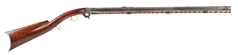 Deluxe Nicanor Kendall Under Hammer Rifle, Serial Number 2 Windsor, Vermont (Active 1835-1849) Circa 1838-1842 Exquisite Condition, one of the finest condition Kendall rifles extant!, right facing