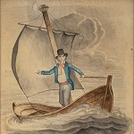 French Song Mancelle, Watercolor, Napoleon Watermark