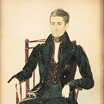 Henry Walton, Watercolor Portrait of Cornelius Post, aged 51, Man Seated New York,