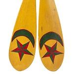 Antique Folk Art Presentation Paddles