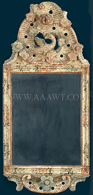 Looking Glass Mirror Cape Cod 18th Century Fine And Mint Sold
