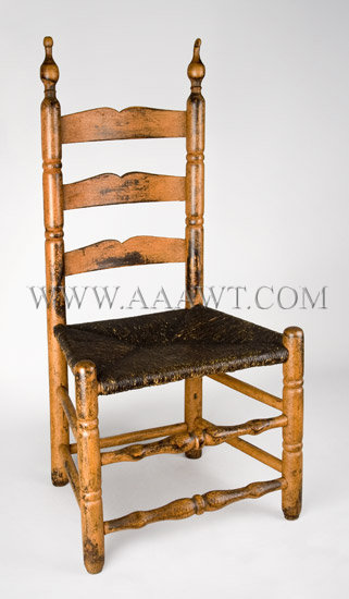 Chair Childrens Pumpkin Paint Over Black Bergin County New Jersey 18th Century Sold