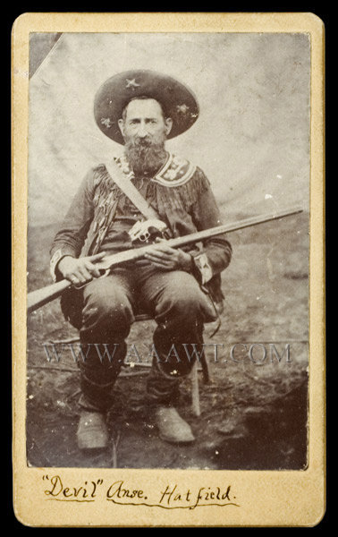 Carte De Visite CDV Anse Hatfield William Anderson Devil 1839 To 1921 Patriarch Of The Clan During And McCoy Feud