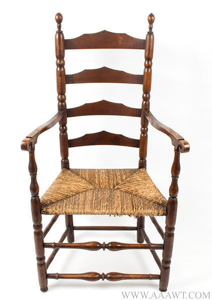 armchair ladder back shaped splats robust turning