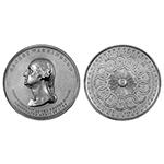 1889 Inauguration Centennial Medal, White metal, Rare,  54mm GW-187