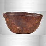 Antique, Large Native American Carved Burl Bowl, Great   Color & Patina Northeast America, Early 19th Century