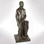 Henry Clay Bronze Figure, Full Length Statuette, Thomas Ball,   Boston, Modeled 1858 Thomas Ball (1819 to 1911) one of the leading sculptors of the   post Civil War period