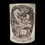 Creamware, Transfer Printed Tankard, Apotheosis, Sacred to the Memory of Washington England, Liverpool, Circa 1800