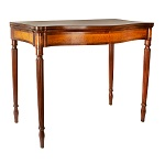 Antique Card table, Federal Games Table, Serpentine Probably Salem, Massachusetts, Circa 1805-1815