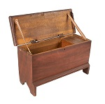 Antique Miniature Paint Decorated Childs Blanket Chest New England, Circa 1800-1820