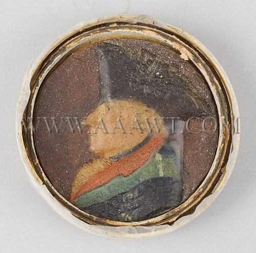 Polychrome Wax Portrait Frederick The Great, entire view