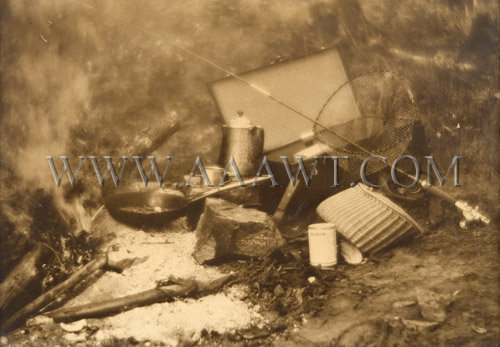 Antique Fishing-Camp Photograph