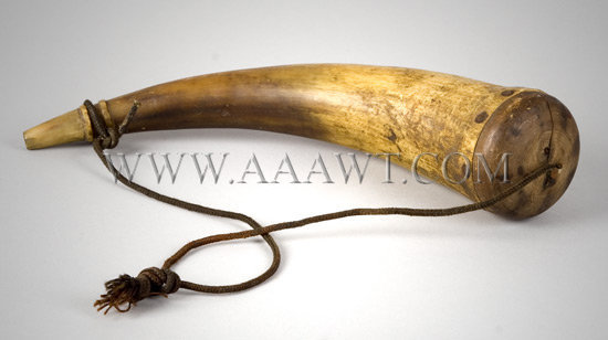 19th Century Powder Horn, entire view