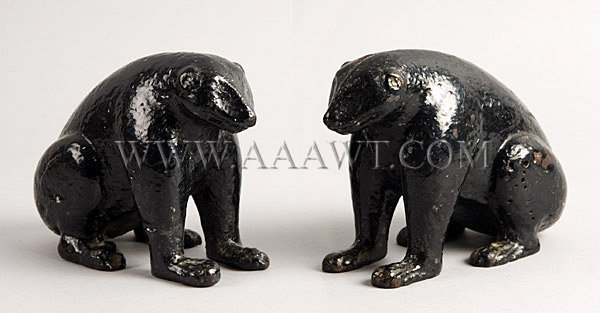 Cast Iron Bear Doorstops Late 19th – Early 20th Century, entire view