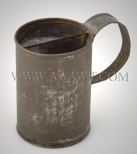 Civil War Era Tin Shaving Mug, entire view