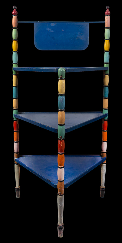 Vintage Tri-leg Paint Display Stand, Colorful Paint Anonymous, entire view 1