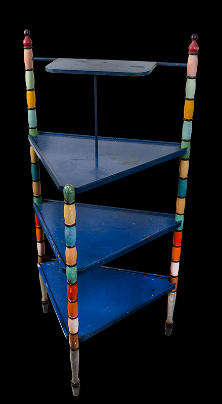 Vintage Tri-leg Paint Display Stand, Colorful Paint Anonymous, entire view 2