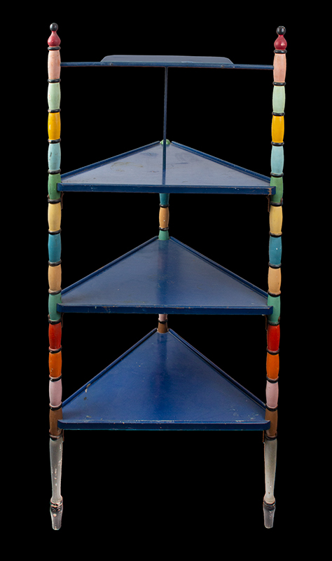 Vintage Tri-leg Paint Display Stand, Colorful Paint Anonymous, entire view 3