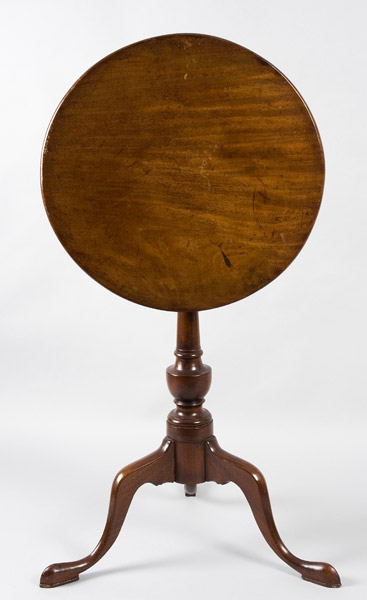 Antique Queen Anne Candlestand, Tiptop, Mahogany Massachusetts, Circa 1770, entire view