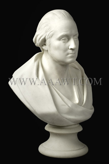 George Washington Parian Bust, after Houdon    Circa 1860, entire view