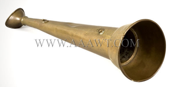Brass Working Trumpet  Probably Fire Fighting  19th Century, entire view