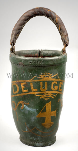 Leather Fire Bucket  Early 19th Century, entire view