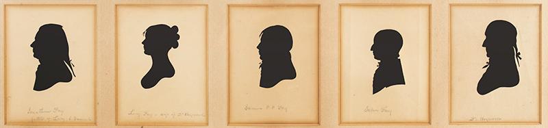 Hayward - Fay Archive, Concord, Massachusetts, Silhouettes, Letters & Documents Jonathan and Lucy Prescott Fay Samuel Prescott Phillips Fay John Fay Dr. Heywood