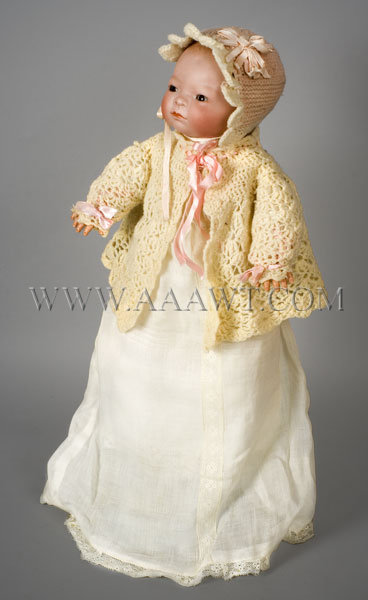 Antique Doll, Bye Lo Baby Doll, German Bisque, Grace Storey Putnam, angle view