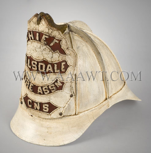 High Eagle Fireman's Helmet  Chief Hillsdale Fire Assn-CNS  South American Style, entire view